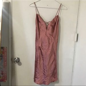 Victoria's Secret dusty rose silk slip dress